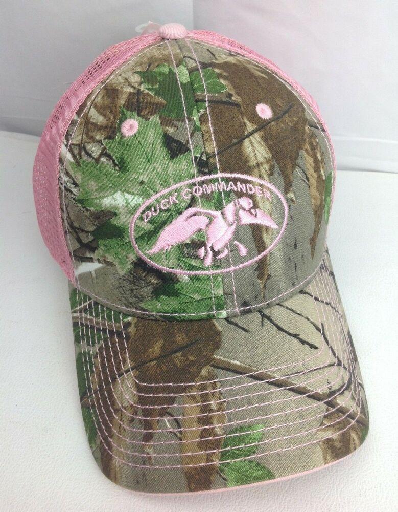 NWT Duck Commander Realtree Camo Pink Mesh Cap Hat - Women s   TheGameDuckCommander  BallCap dcb1cc358a16