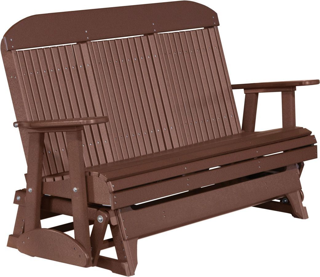 LuxCraft Classic Highback 5ft. Recycled Plastic Patio Glider