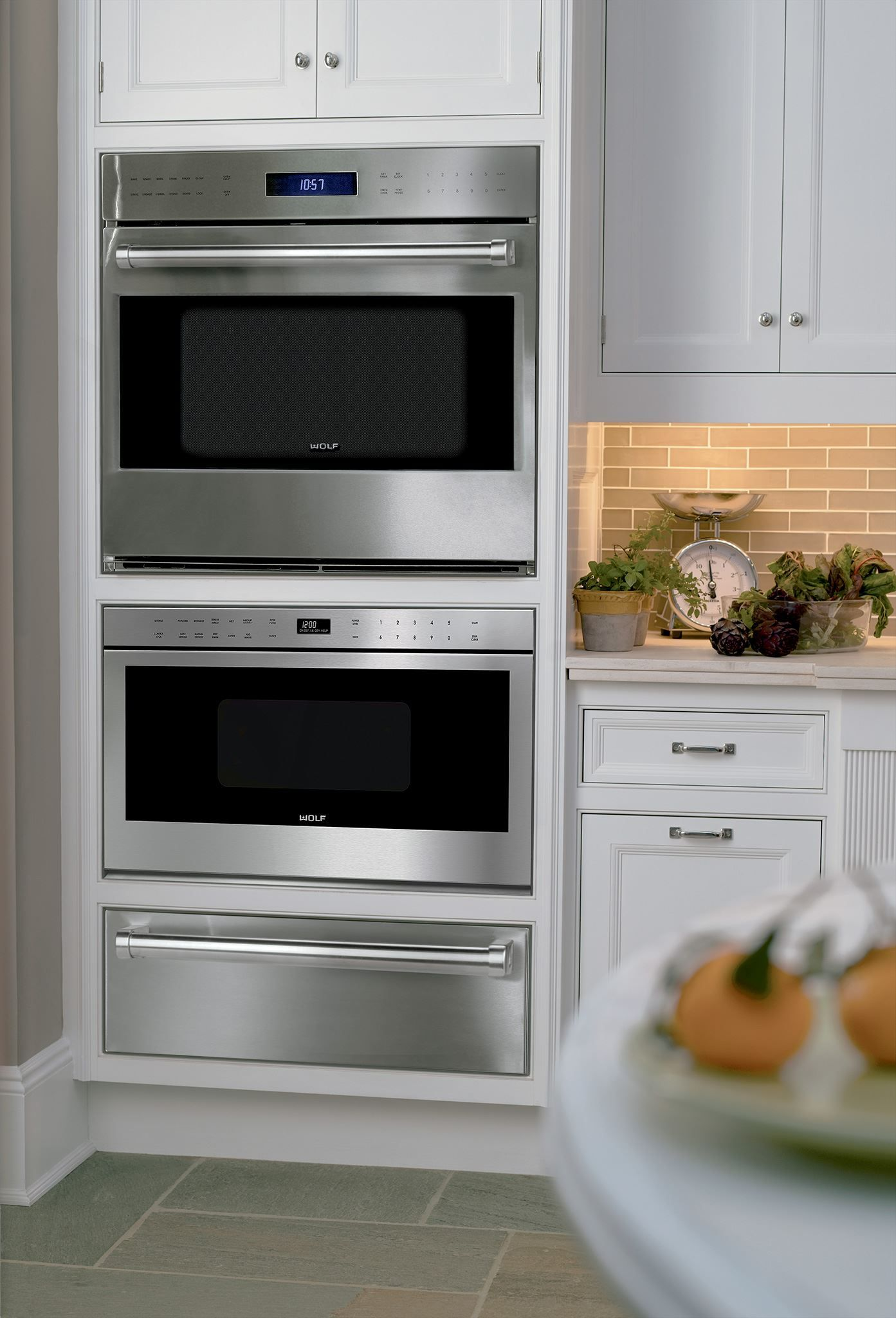 Made for each other to create a beautifully coordinated for Wall oven microwave combo cabinet