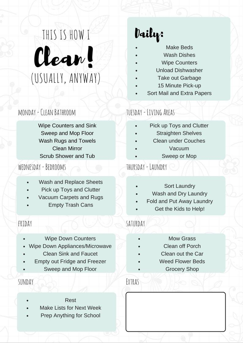 photo relating to Free Printable Cleaning Schedule named Absolutely free Printable Cleansing Routine My Circus, My Monkeys