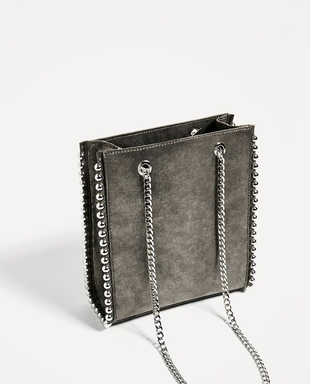 2034a64dcb Image 4 of MINI STUDDED TOTE from Zara | style// | Studded bag ...