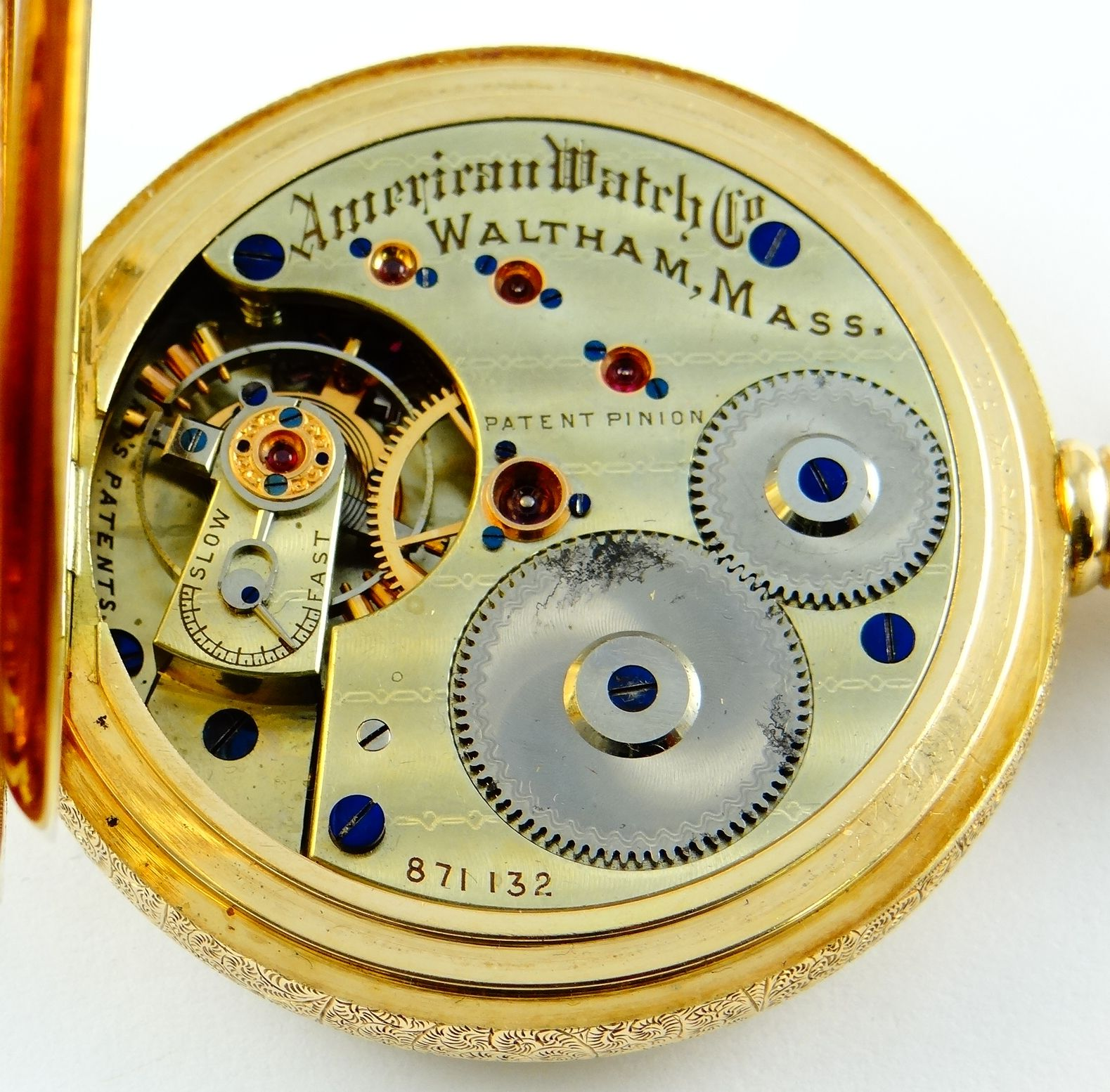 Waltham Rare American Watch Co Grade Model 1872 With Sawtooth Balance 16s Saatler Paten