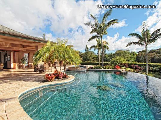 Retreat like backyard in hawaii pools hot tubs for Pool design hawaii