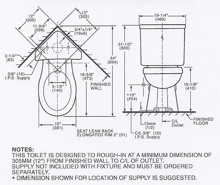 Where To Measure Rough In For Corner Toilet Corner Toilet Toilet Childrens Bathroom