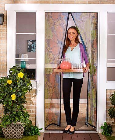 Instant Mesh Screen Doors Mesh Screen Door Magnetic Screen Door Diy Screen Door