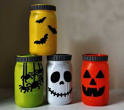20 amazing halloween mason jar ideas - How To Make Halloween Lanterns