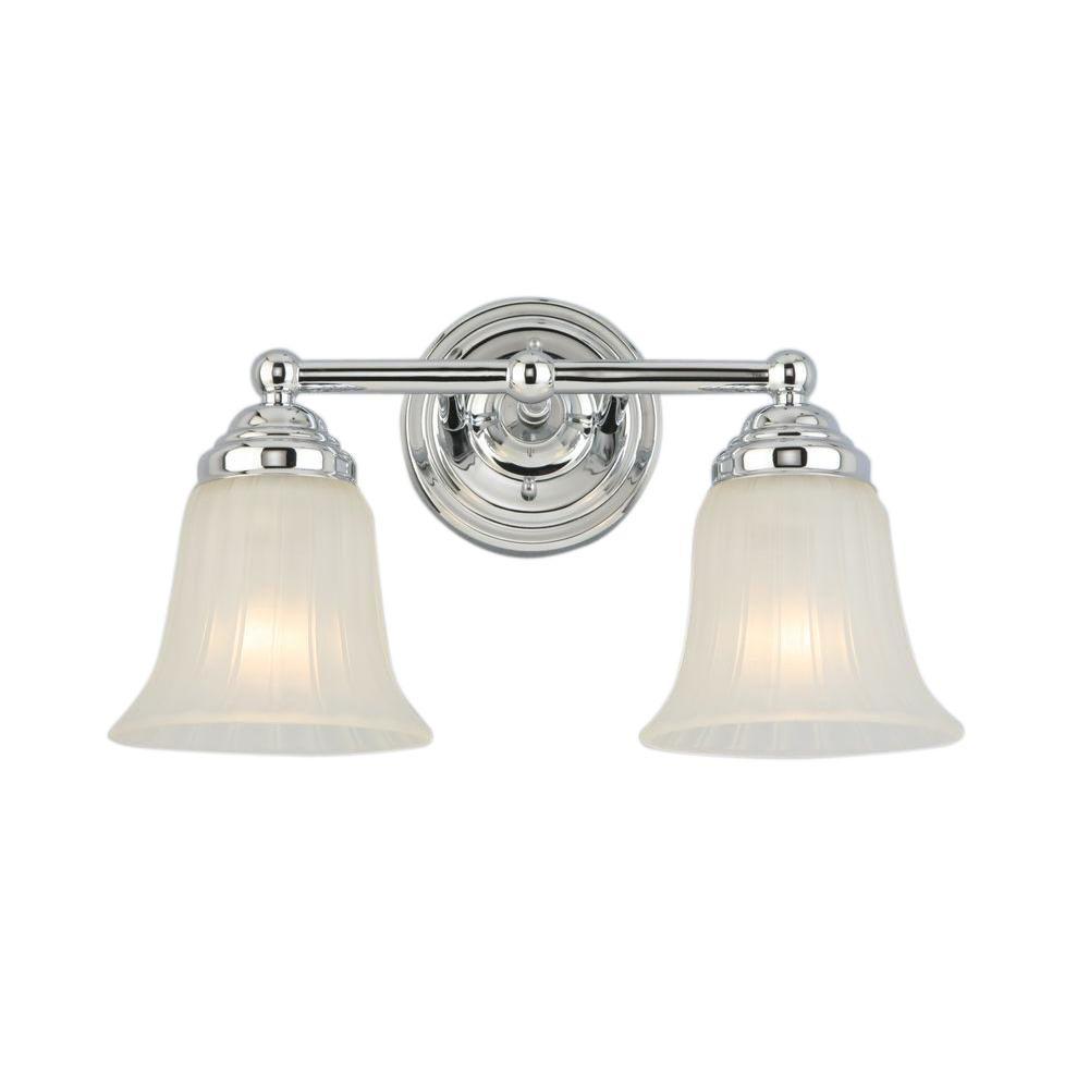 Above Bathroom Mirror Hampton Bay 2 Light Chrome Vanity Light