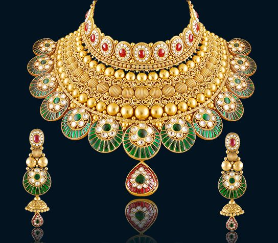 Indian Gold Jewellery Necklace Sets Google Search: Latest Gold Necklace Sets Design Collection