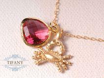 Sternzeichen Krebs - Gold, Granat, 14k | by Tifany-Jewelry
