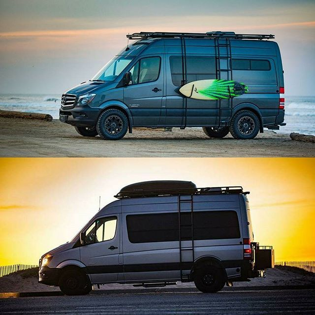 Two Of El Kapitan Vans Latest Sprinter Van Conversions Outfitted With Aluminess Gear