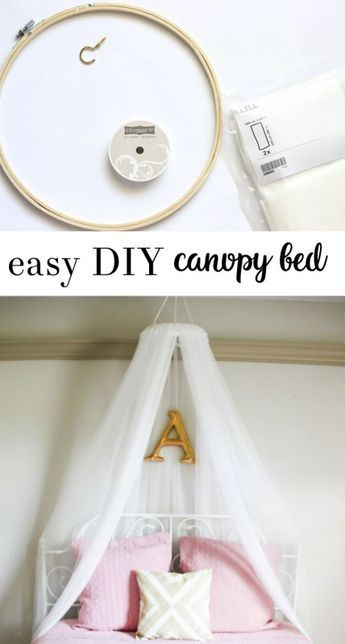 diy bed canopy - all crafty things