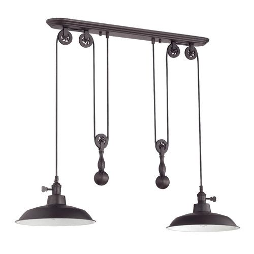 Found it at wayfair supply pulley 2 light kitchen island pendant