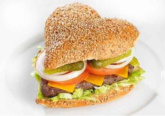 Heart Burger Food Homemade Hamburgers Cooking