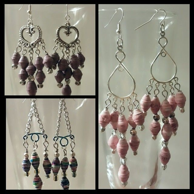 More beautiful jewelry out of paper beads at followthebunnytrail ...