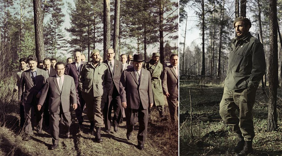 Cuban leader Fidel Castro in the Siberian taiga #cubanleader Cuban leader Fidel Castro in the Siberian taiga #cubanleader