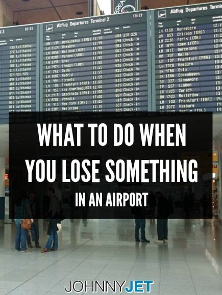What To Do When You Lose Something In An Airport Travel Fun