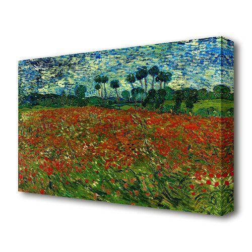 East Urban Home Leinwandbild Mohnblumenfeld Von Vincent Van Gogh In Rot Painting Prints Oil Painting On Canvas Vincent Van Gogh