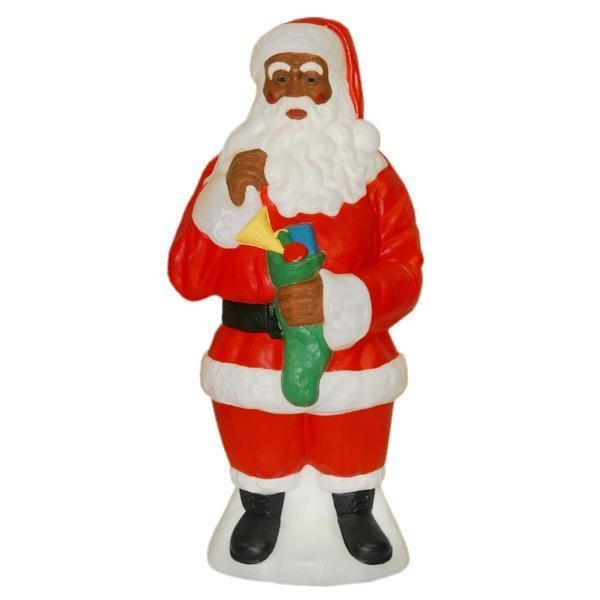 black african american santa claus christmas holiday outdoor decoration decor - African American Outdoor Christmas Decorations