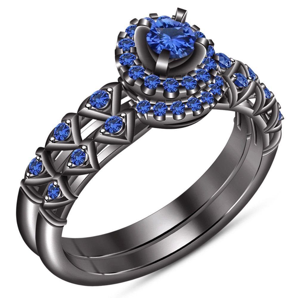 36++ Sapphire wedding rings gold ideas in 2021