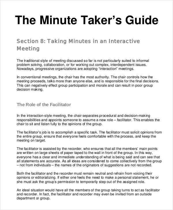 24 Meeting Minutes Templates Pdf Doc With Images Meeting