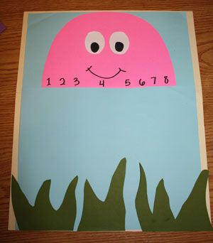 Octopus counting craft step 5 maths fun number for Octopus craft for preschool