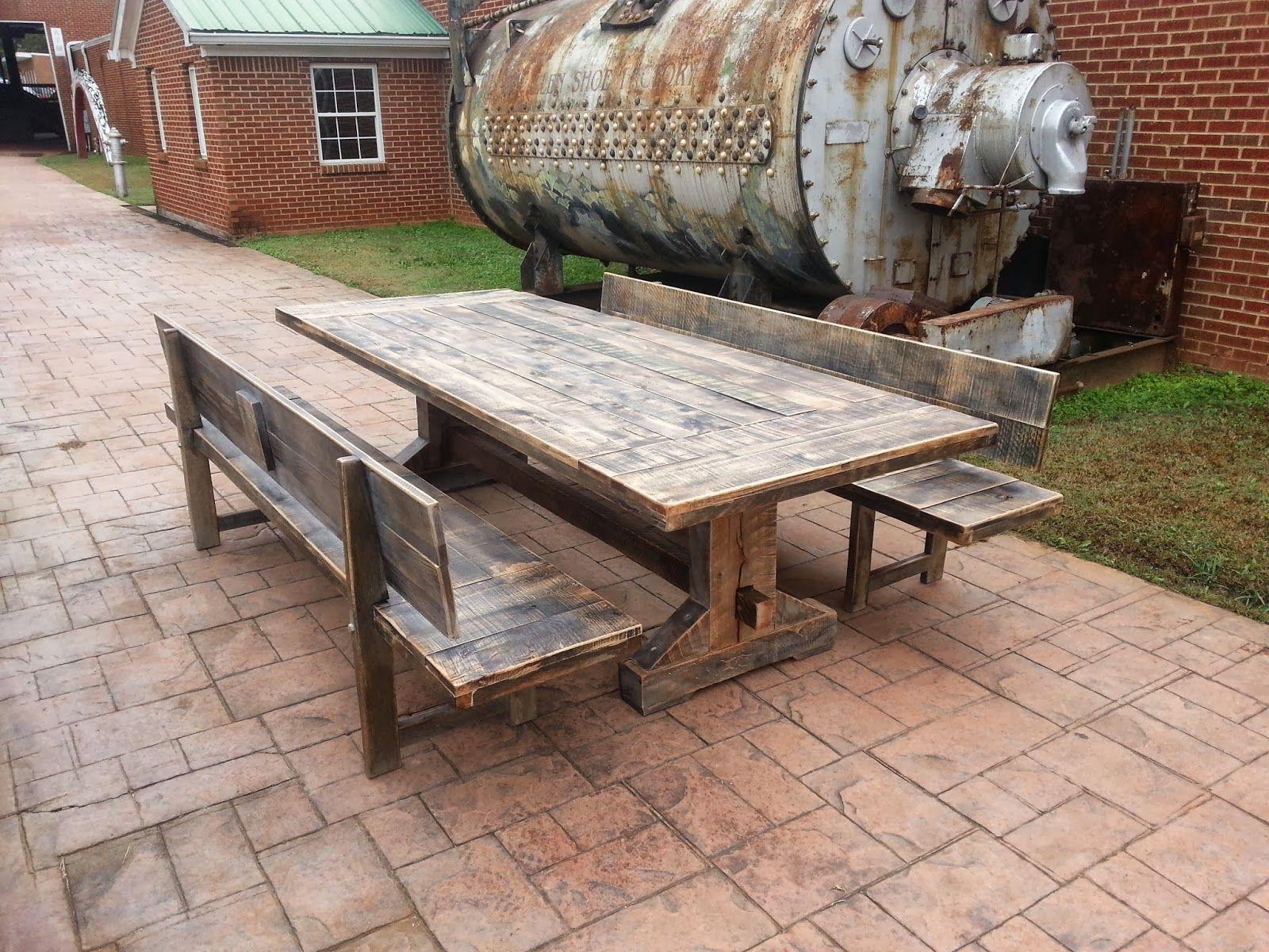 rustic trades furniture atlanta ga handmade distressed reclaimed rustic tables and furniture