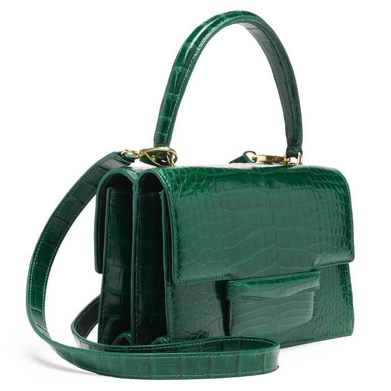 Alligator Double Bag - Kelly Green 2