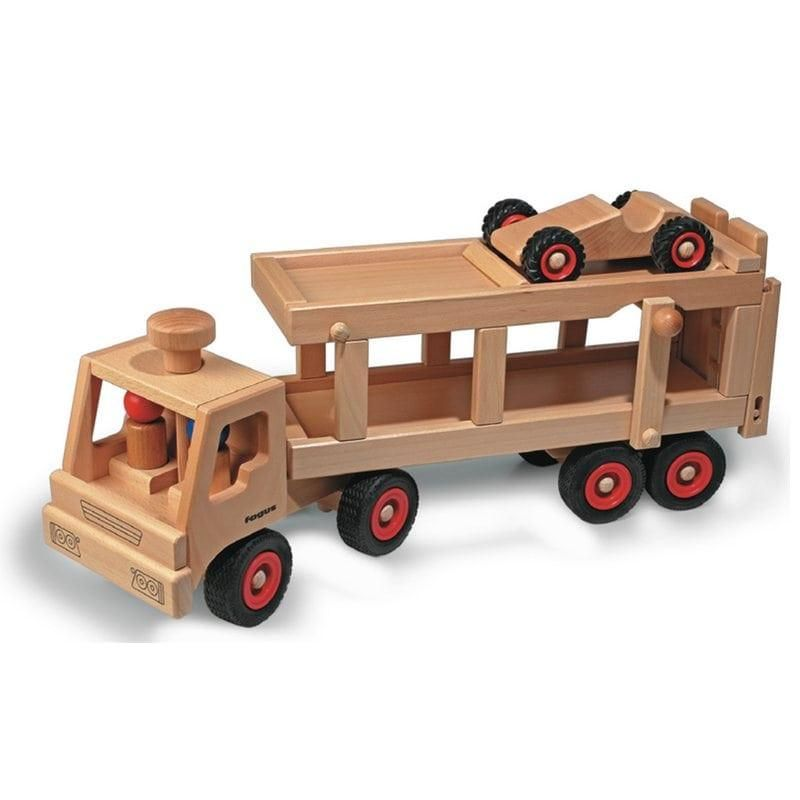fagus autotransporter holzfahrzeug modell ab 2 jahren holzfahrzeuge. Black Bedroom Furniture Sets. Home Design Ideas