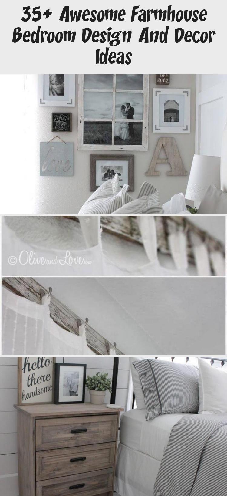 35+ Awesome Farmhouse Bedroom Design And Decor Ideas