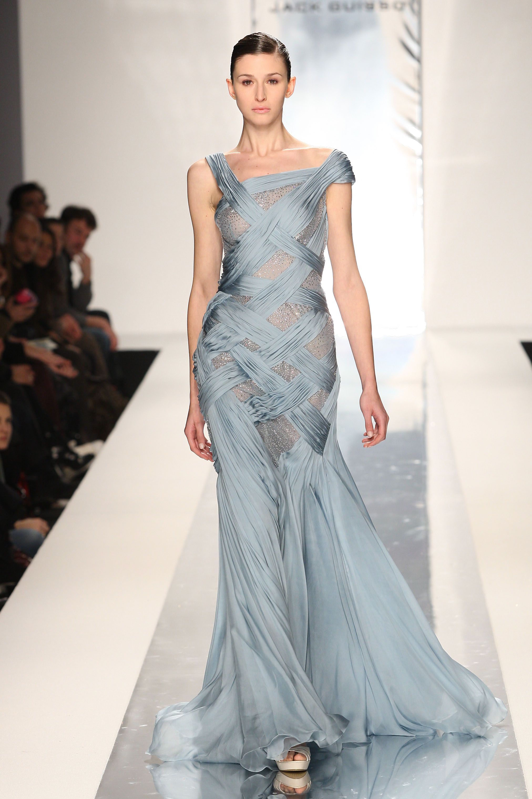 AltaRoma fashion u Jack Guisso Blue gown Gowns and Milan