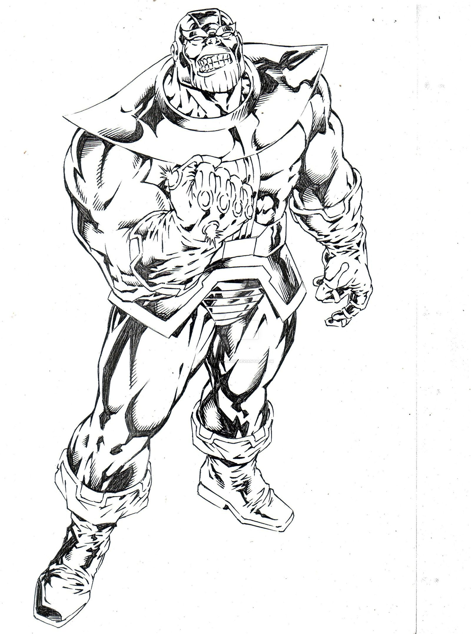 THANOS By Capocyan-Arvin On DeviantArt   LineArt Thanos   Pinterest   DeviantART And Marvel