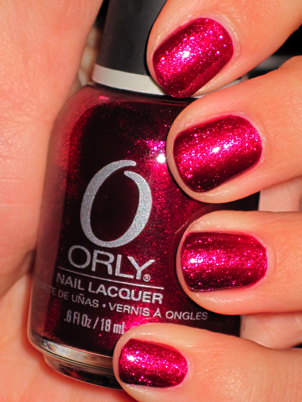 Orly - Rock It (stunning duochrome red with goldtone fleck micro glitter)