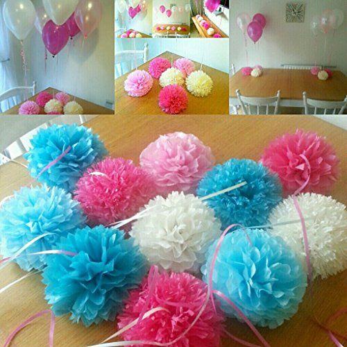 12 helium balloon weights birthday frozen party wedding baby 12 helium balloon weights birthday frozen party wedding baby shower christening tissue paper pom poms http junglespirit Gallery