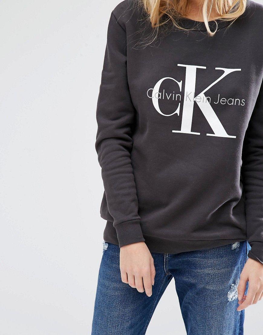 Calvin Klein Jeans Logo Sweatshirt at asos.com
