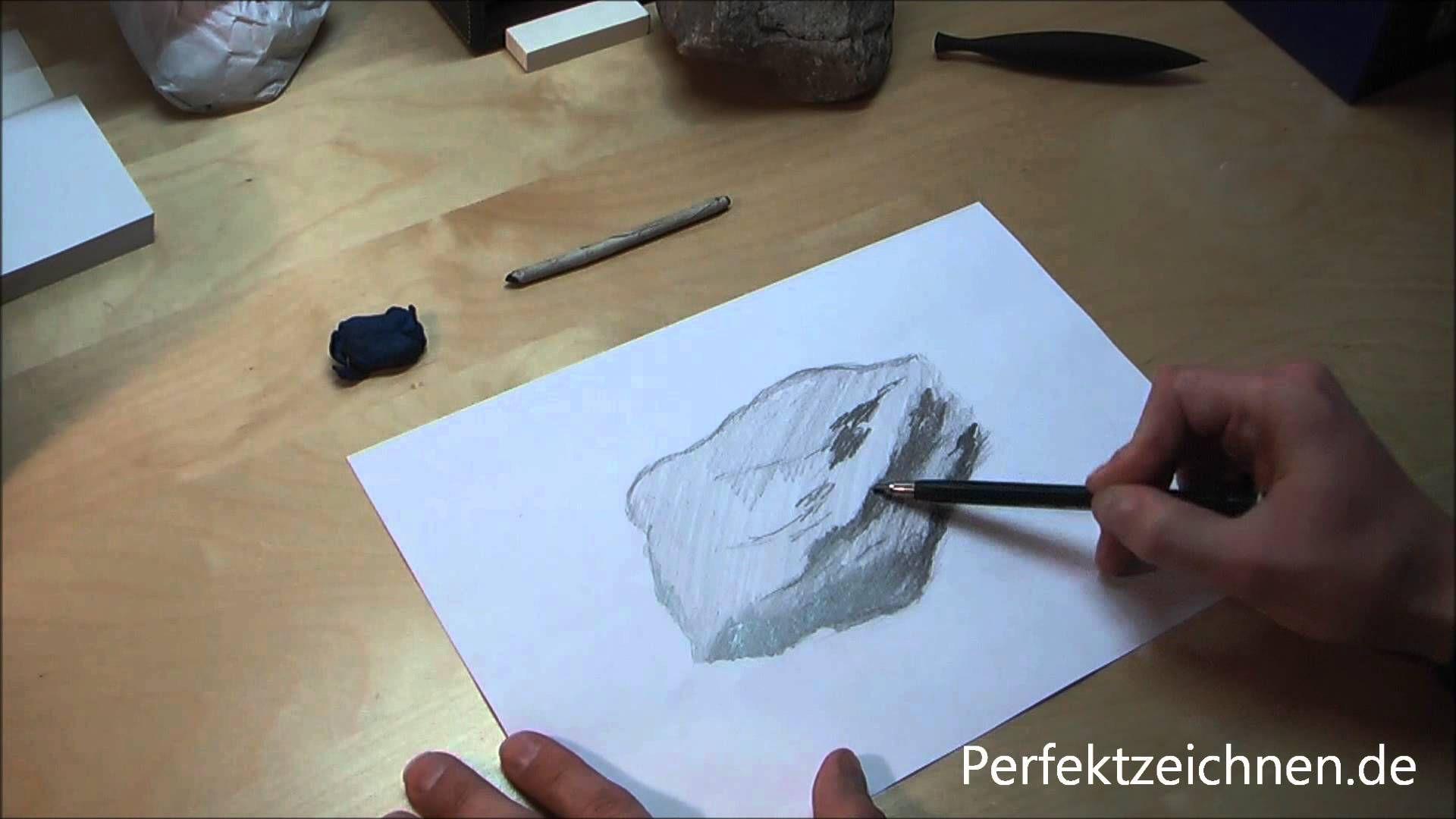 Zeichnen Lernen Fur Anfanger Online Stein Realistisch Zeichnen
