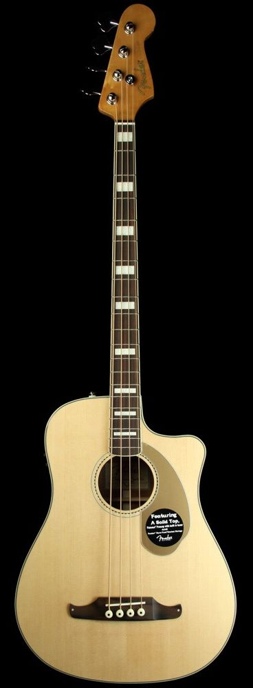 fender kingman sce acoustic electric bass guitar the music zoo guitars amplifiers bass. Black Bedroom Furniture Sets. Home Design Ideas