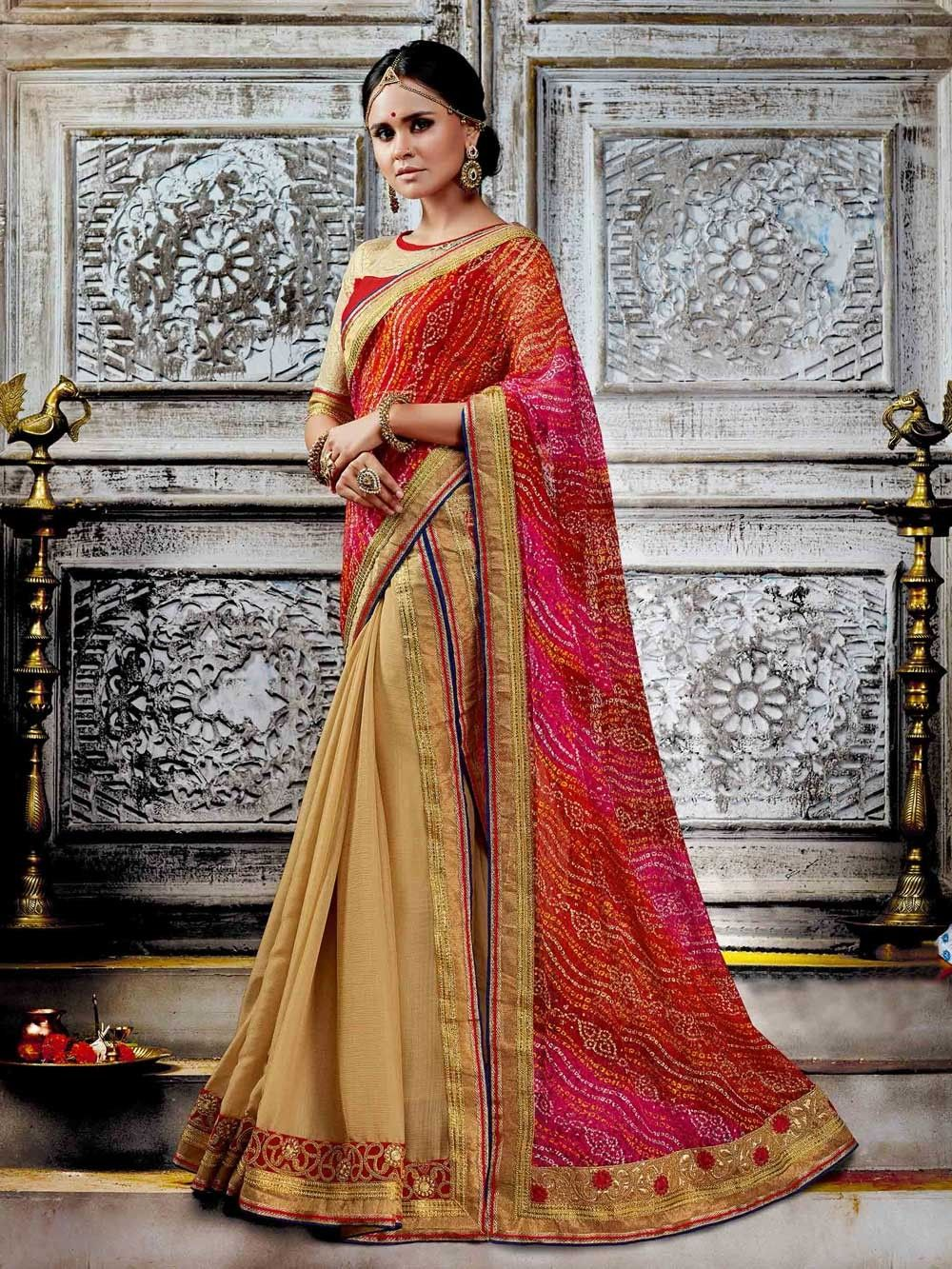 fd242e06b5 Blue net and georgette party wear latest Indian saree   Sari ...