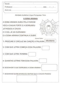 Alfabetizacao Solidaria Atividade Avaliativa Lingua Portuguesa