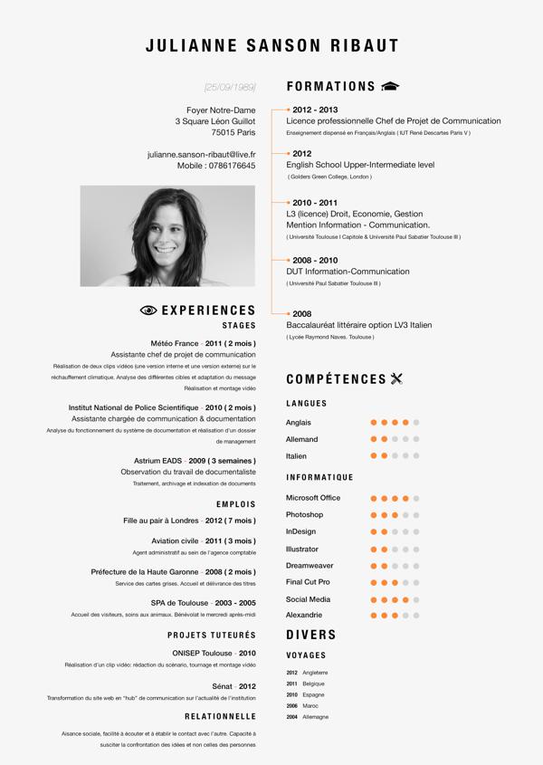Curriculum Vitae By Valentin Moreau Via Behance Resume Design