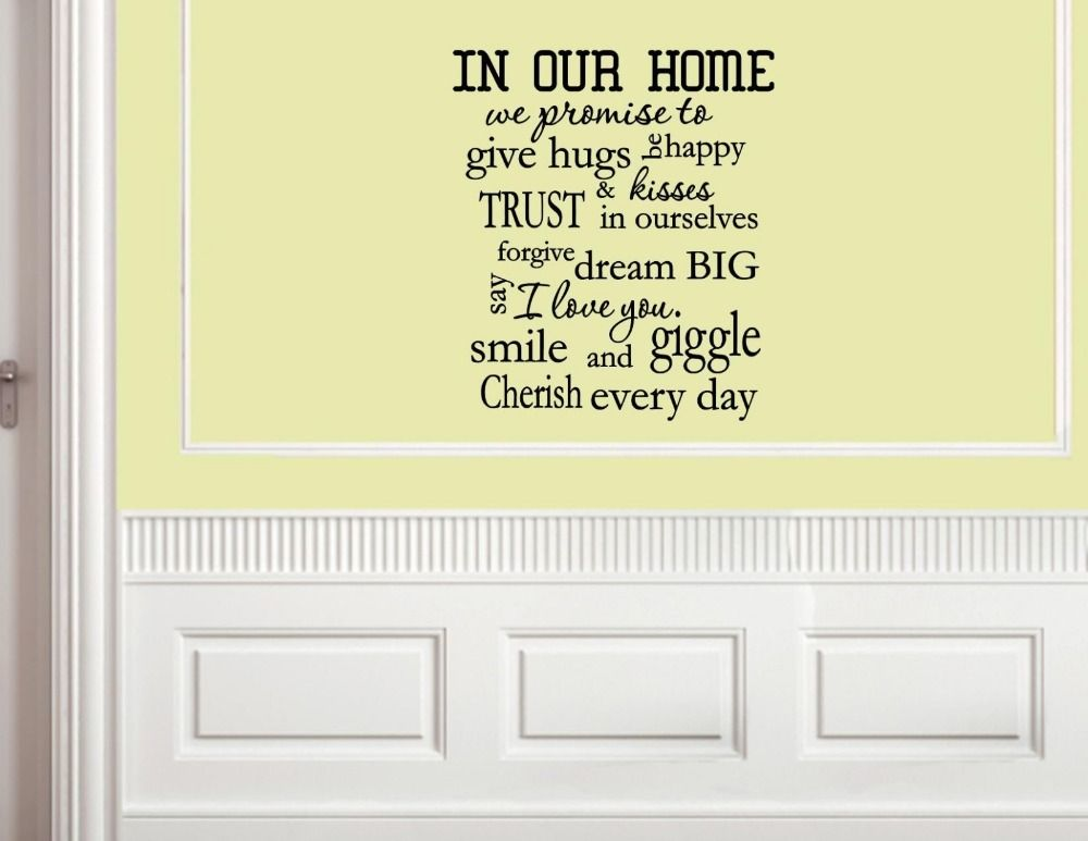 In-our-home-we-promise-to-give-font-b-hugs-b-font-Vinyl-wall-decals ...