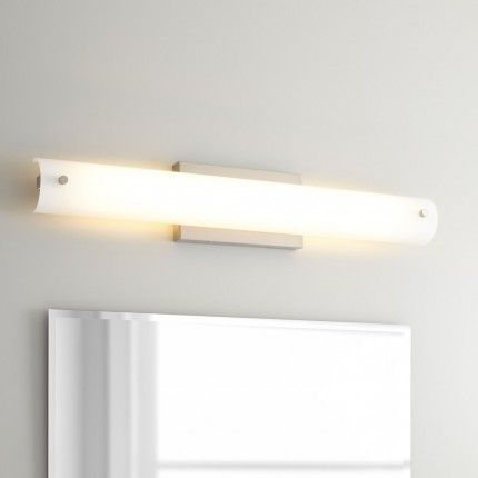 Thilo Vanity Sconce - Single LED Light - Brushed Nickel | Bathrooms ...