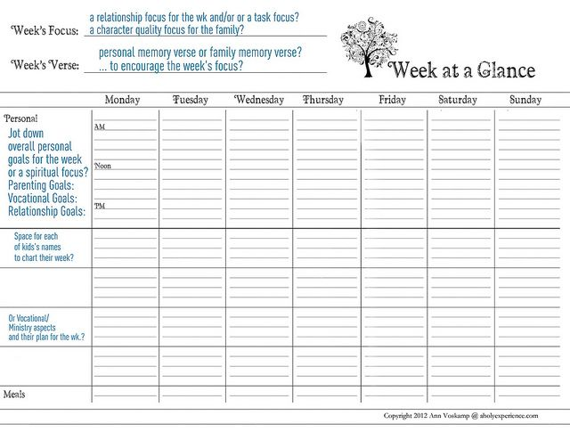 Daily Week Calendar free weekly & daily planner printables} weekends are for planning