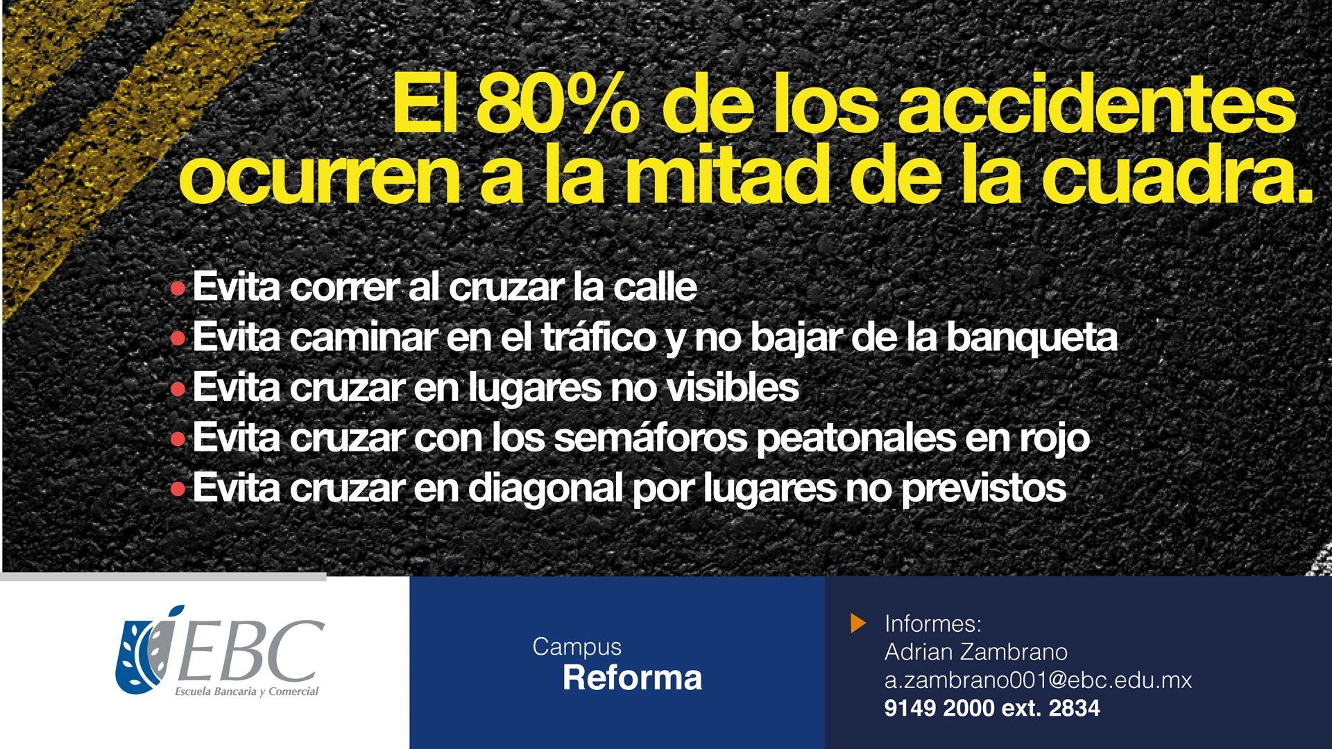 La seguridad vial es asunto de todos. ¡Cuidémonos! #SoyEBC