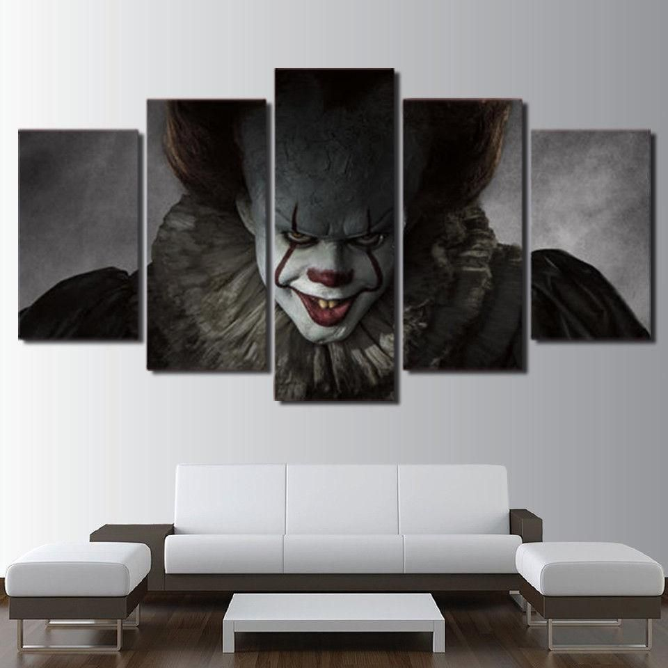 Pennywise Clown It Horror Scary Movie Canvas Wall Art Canvas Art Wall Decor Halloween Canvas Canvas Wall Art
