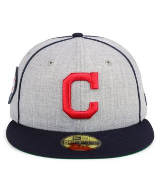 shades of thoughts on cost charm New Era Cleveland Indians Stache 59FIFTY Fitted Cap - Gray 7 1/2 ...