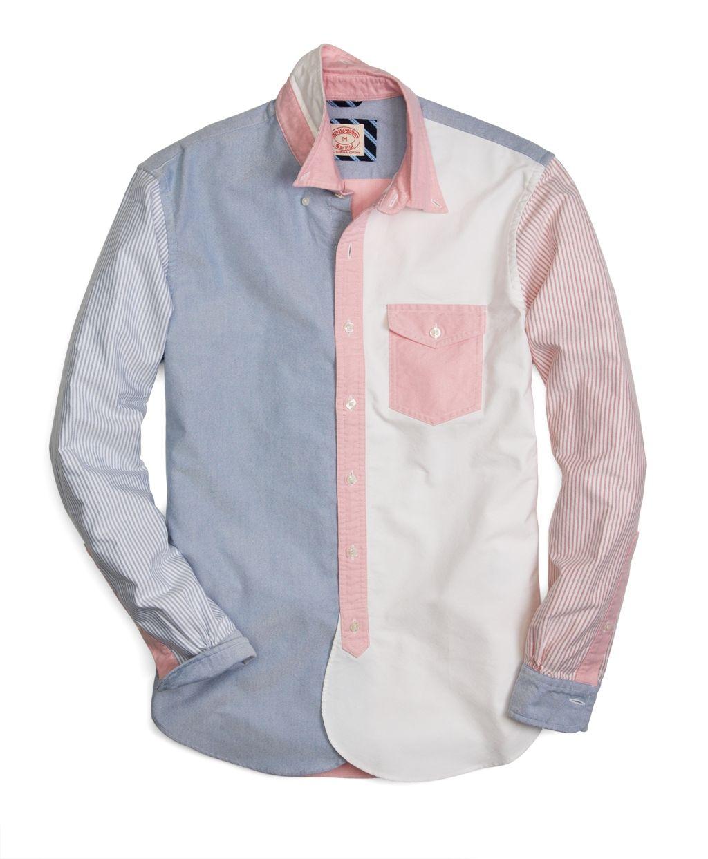 Brooks Brothers Oxford Fun Shirt Mens Fashion Shirts Cool