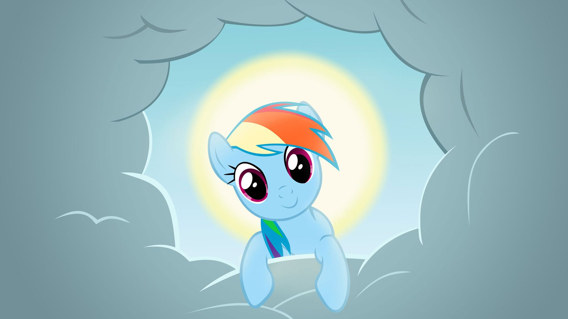 Rainbow Dash wallpaper in the Clouds