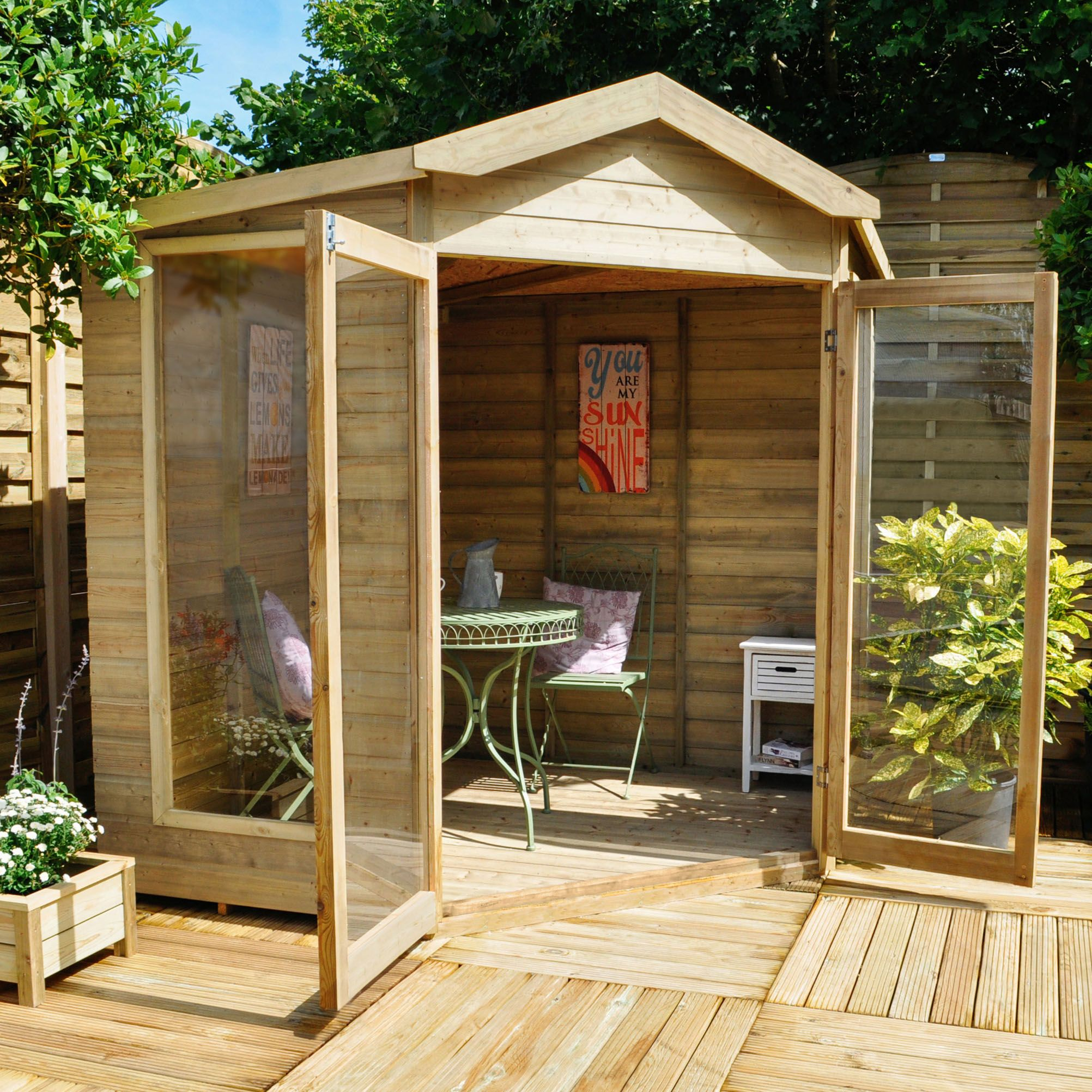buy 7 x 7 rock blockley corner garden wooden summerhouse x x from our summer houses range at tesco direct we stock a great range of products at everyday - Corner Garden Sheds 7x7