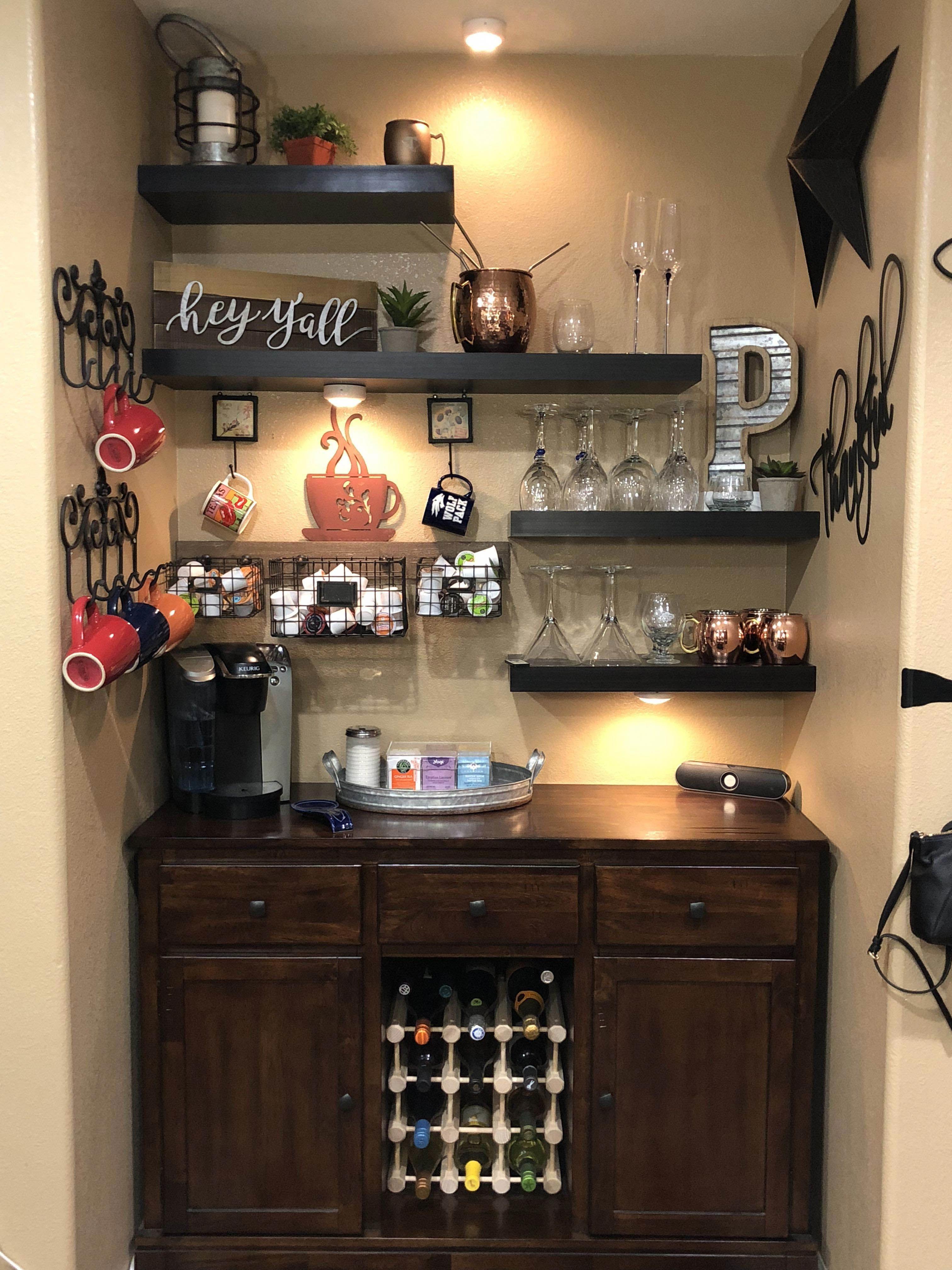 Diffe Coffee Bar Storage Ideas That