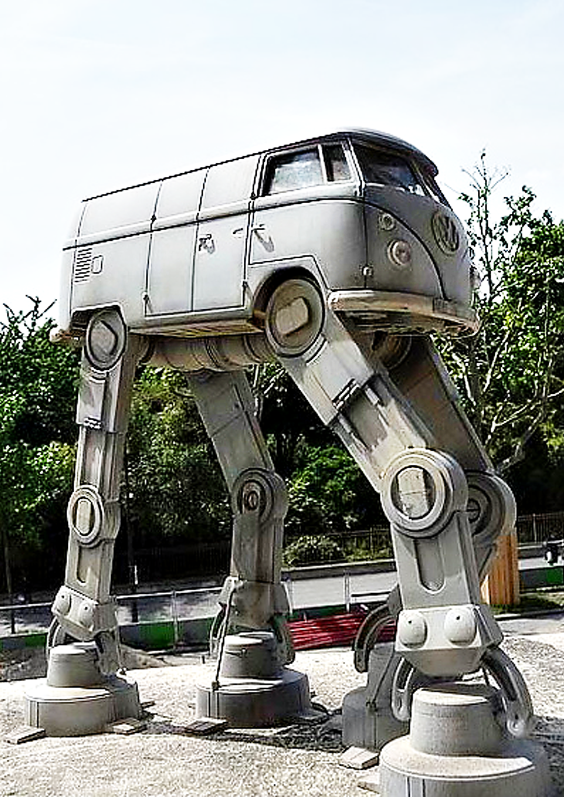 20705a3d990a4d volkswagen bus was transformed into a star wars imperial at-at